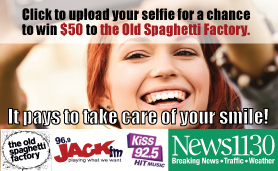 Upload a selfie for a chance to win $50 to the Old Spaghetti Factory