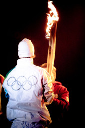 olympic torch runner Whistler 2010 winter games