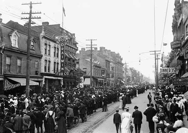 An early 1900s Labour Day parade in Toronto
