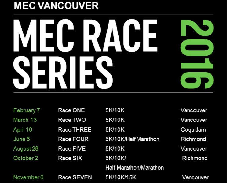MEC VANCOUVER RACE THREE: 5K/10K in Coquitlam