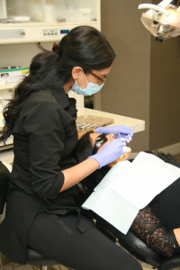 A patient having their teeth cleaned at Willowbrook Park Dental, a member 123 Dentist clinic.