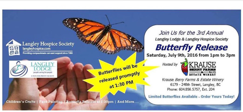 Third Annual Butterfly Release in Aldergrove