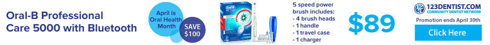 Get the Oral-B Professional Care 5000 with Bluetooth power brush for just $89 during April Oral Health Month