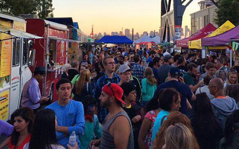 The Shipyards Night Market in North Vancouver