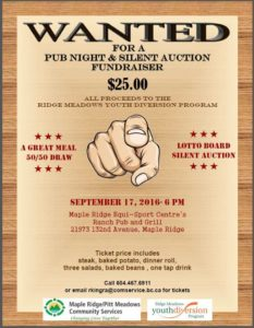 5th annual Pub Night and Silent Auction Fundraiser