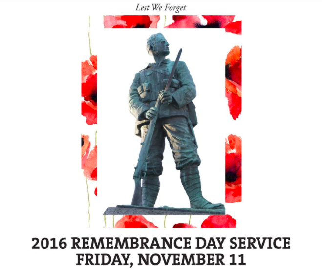 Rememberance Day Service in New Westminster