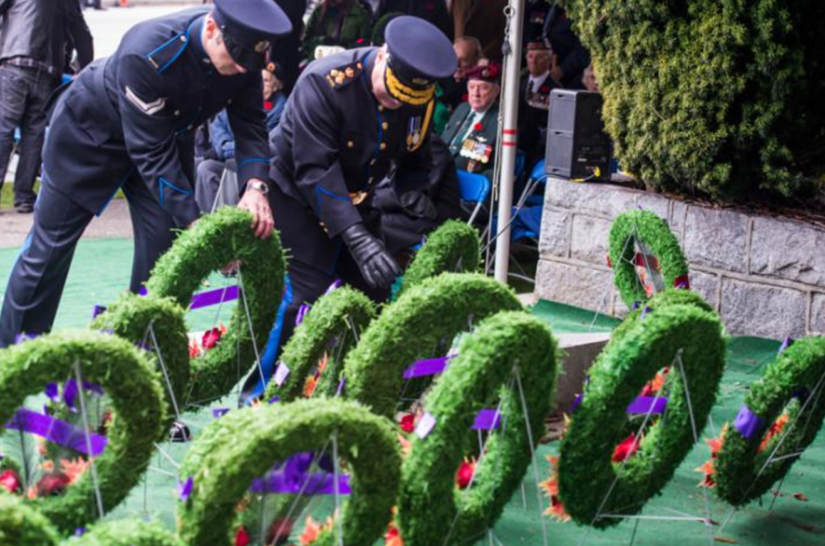 Remembrance Day Ceremony in West Vancouver