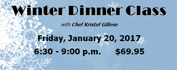 Winter Dinner Class in Maple Ridge