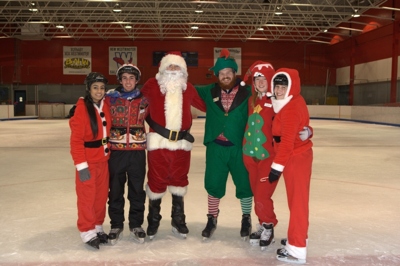 Skate with Santa in New Westminster