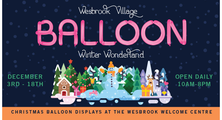 Balloon Winter Wonderland @ Wesbrook Village in Vancouver