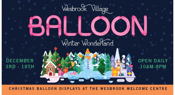 Balloon Winter Wonderland @ Wesbrook Village in Vancouver