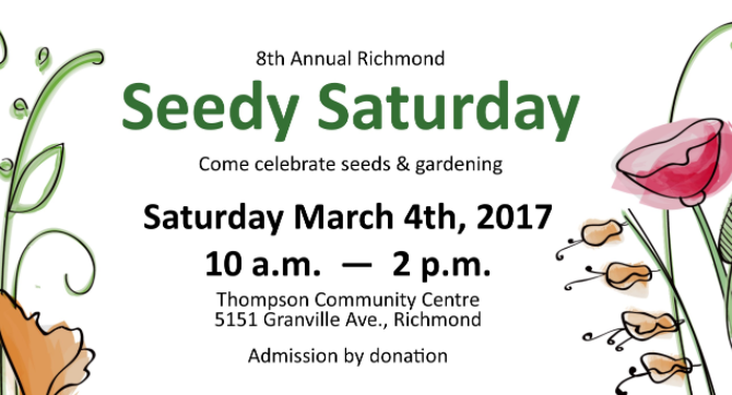 8th Annual Richmond Seedy Saturday in Richmond