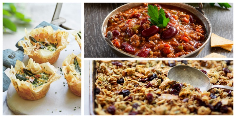 Cooking Series: Easy Freezer Meals (Chili/Mini Quiches/Granola) in Vancouver
