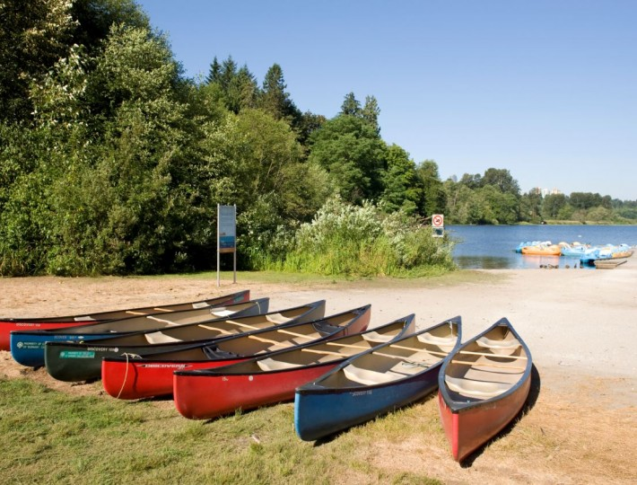 Guided Canoe Trips on Deer Lake in Burnaby