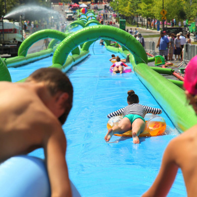Slide the City in North Vancouver