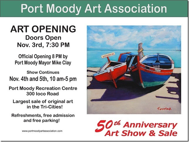Port Moody Art Association 50th Annual Exhibition & Sale in Port Moody