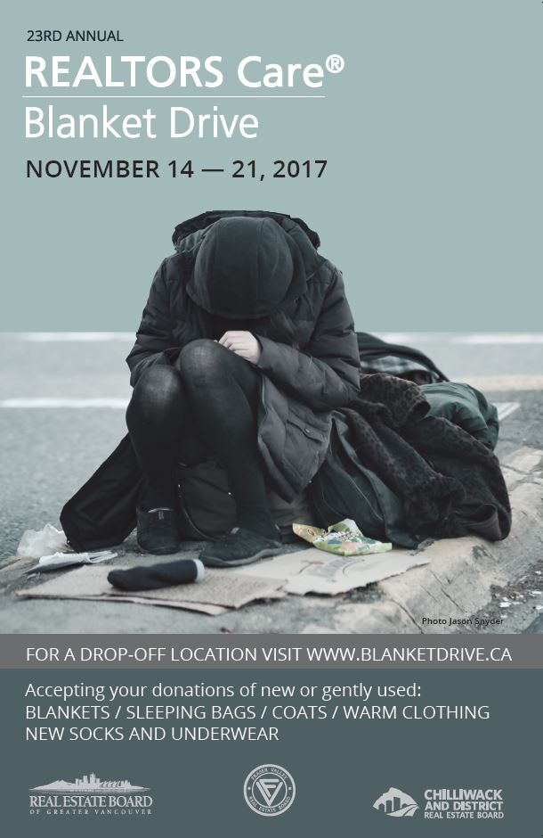REALTORS Care® Blanket Drive in Chilliwack