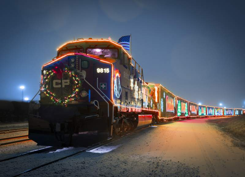 CP Holiday Train in Pitt Meadows in Pitt Meadows