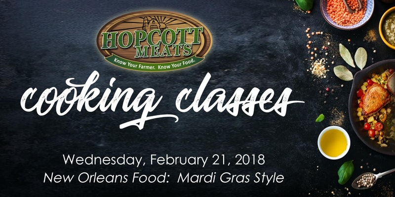 Hopcott Cooking Class: New Orleans Food: Mardi Gras Style in Pitt Meadows