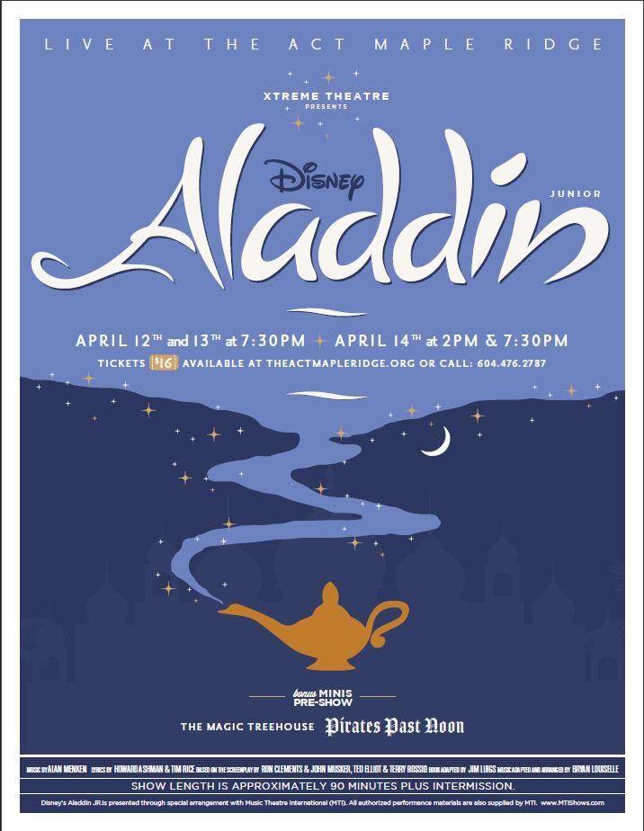 Xtreme Theatre Presents Disney's Aladdin Jr. in Maple Ridge
