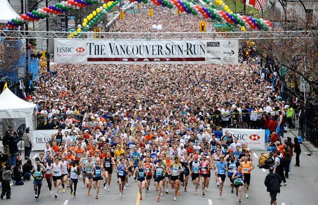 Vancouver Sun Run 2018 in Vancouver