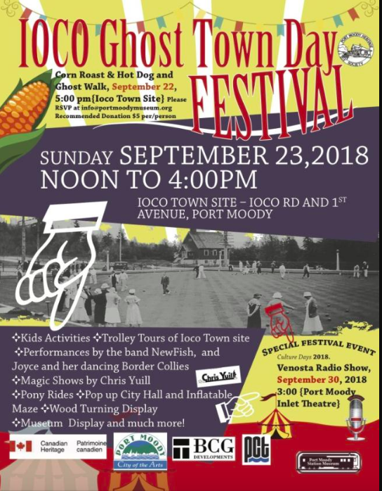 Ioco Ghost Town Days Festival 2018 in Port Moody