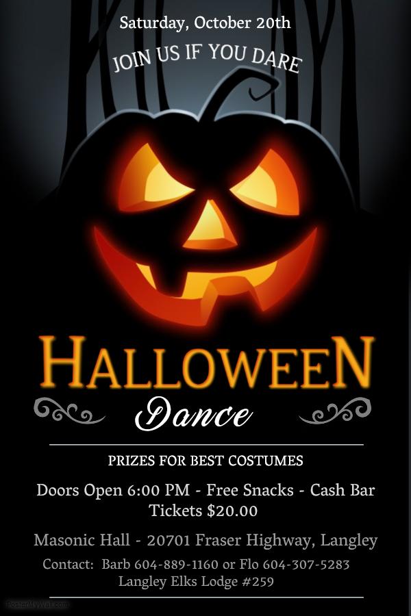 Fundraiser – Halloween Dance in Langley