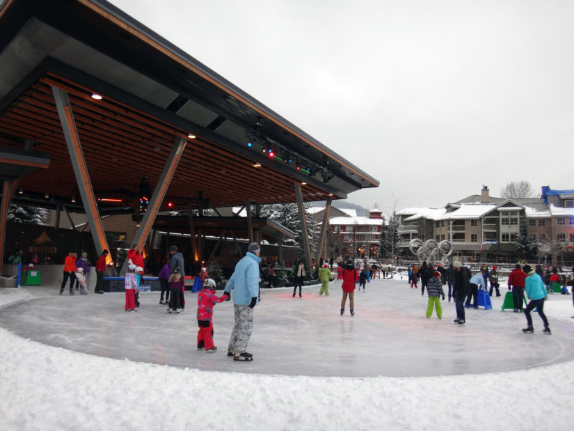 Outdoor Skating @ Whistler Olympic Plaza in Whistler