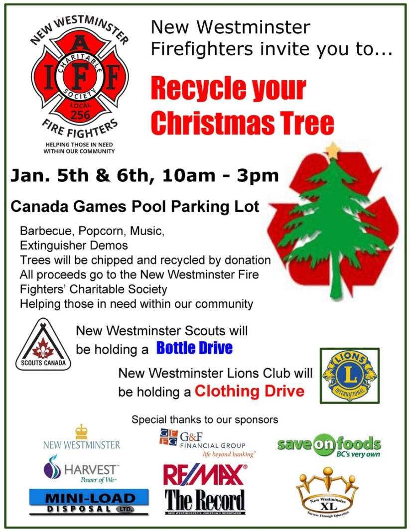 New Westminster Fire Fighter's Charitable Society Tree Chipping 2019 in New Westminster