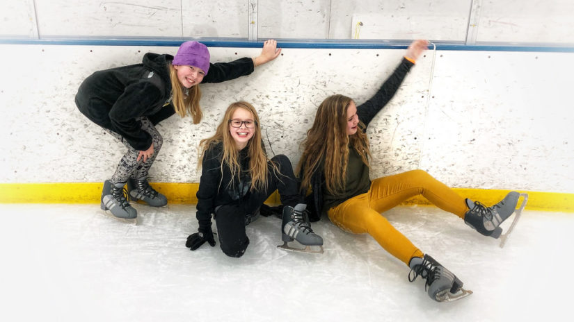 Family Skating at Planet Ice 2019 in Maple Ridge