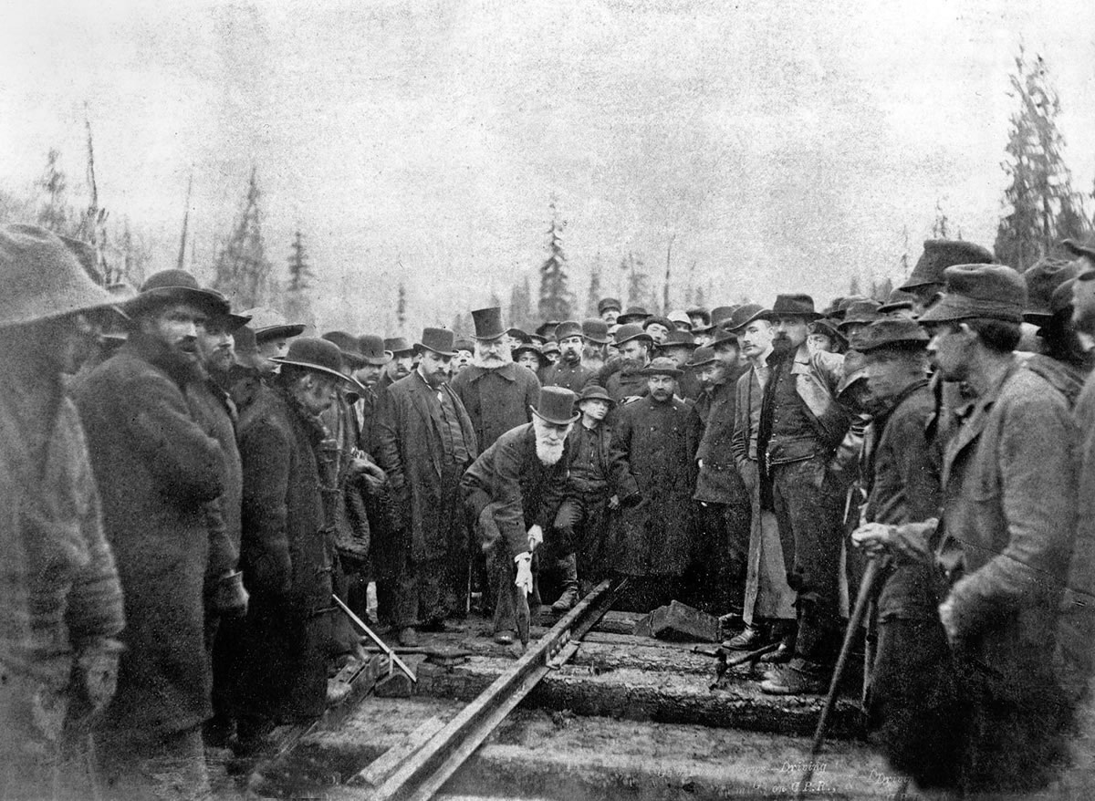 The Last Spike of the CPR was driven at Craigellachie, BC on Nov. 7, 1885.