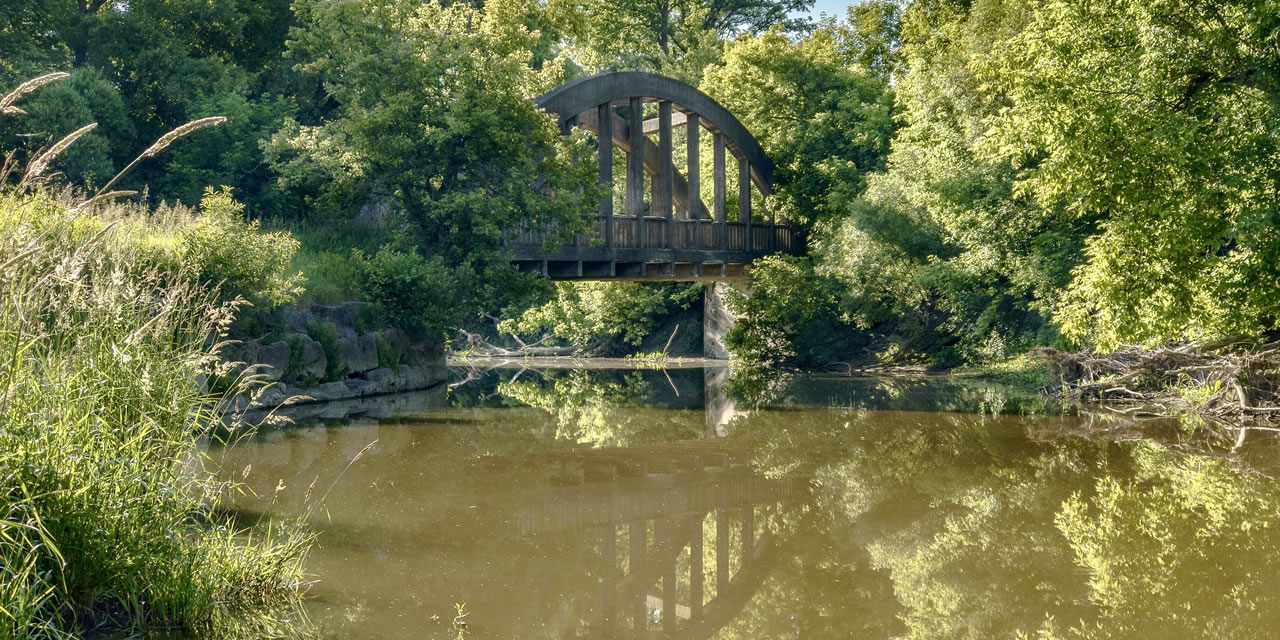 Old railway bridge near Brampton Ontario