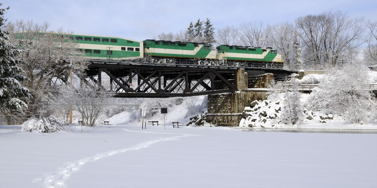 GO Train near Pickering Ontario