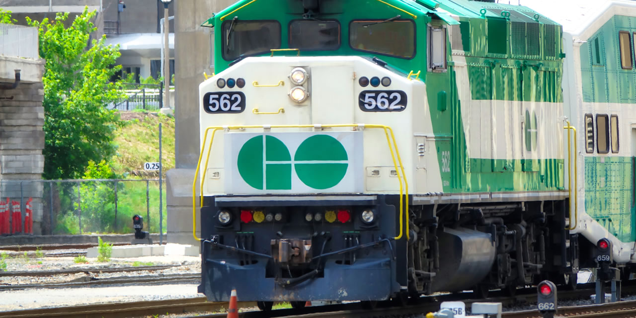 GO Train in Markham