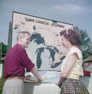 Travellers on the Trans-Canada Highway