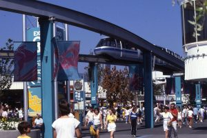 Expo 86 Monorail in Vancouver
