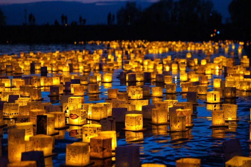Water Lantern Festival in Innisfil