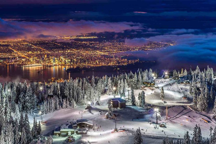 New Year's Eve Dinner at Grouse Mountain in North Vancouver