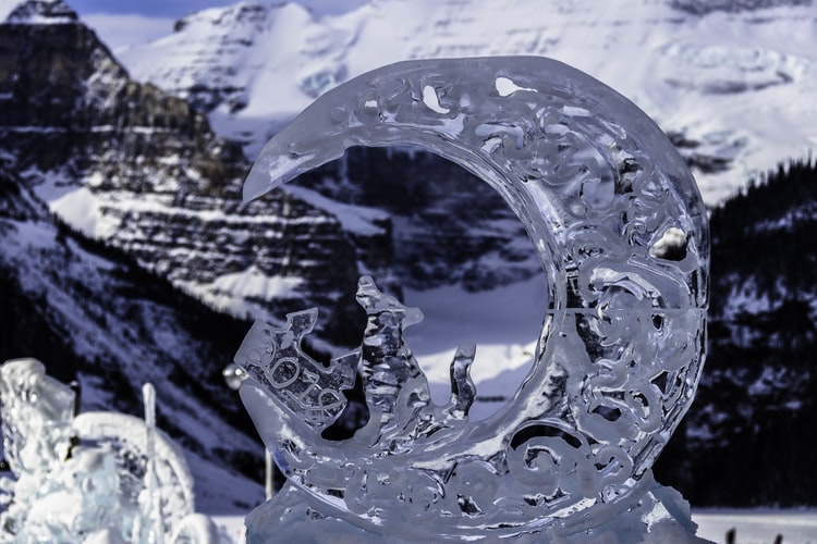 Ice Carving Competition in Innisfil